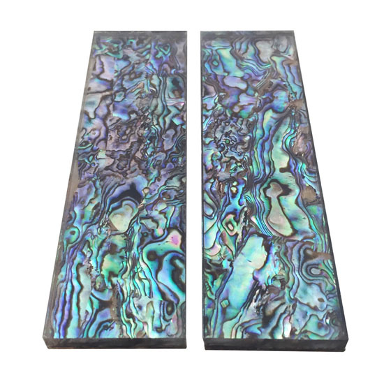 1Pair Natural Pura Abalone Knife Handle Scale Blank Sheet - 33x118x6mm