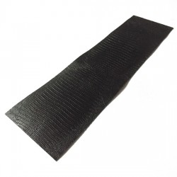 Black Lizard II Embossed Cowhide Leather