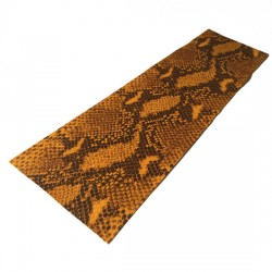 Golden Python Embossed Cowhide Leather