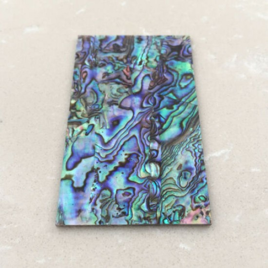 """1.5mm(0.059"""") Thick Natural Paua Abalone Flat Scale Blank Inlay Material"""