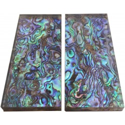 1Pair Natural Pura Abalone Knife Handle Scale Blank Sheet - 33x78x6mm