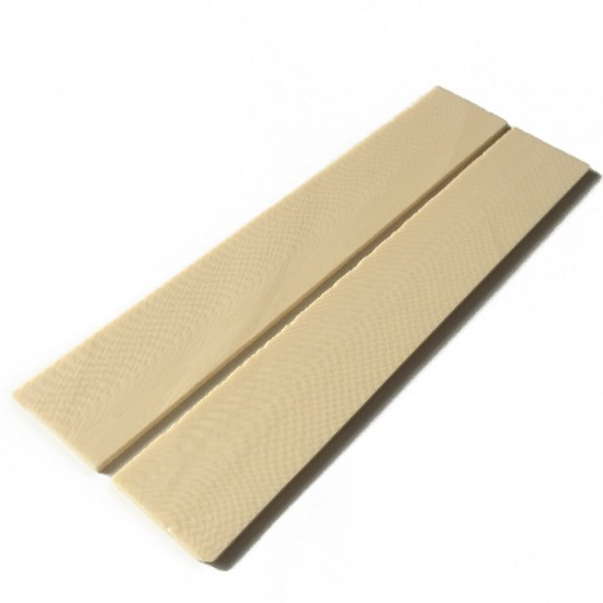 2pcs X Arvorin - 153x25.4x2mm Ivory Substitute Material