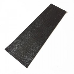 Black Crocodile Embossed Cowhide Leather