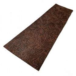 Brown Floral Embossed Cowhide Leather Wrap