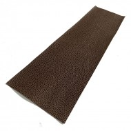 Brown Litchi Embossed Cowhide Leather Wrap