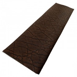 Dark Brown Elephant Ear Embossed Cowhide Leather