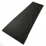 Black Litchi Embossed Cowhide Leather