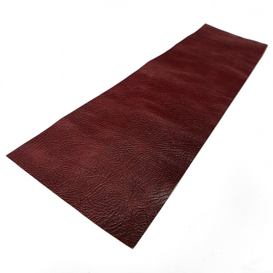 Red Wine Bull Embossed Cowhide Leather Wrap