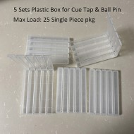 5 Sets (25pcs) Plastic Box for Pool Cue Tap & Ball Pin Safety Packing